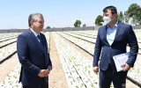 President Shavkat Mirziyoyev visits an innovative greenhouse in Andijan