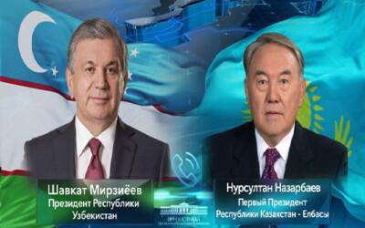 Shavkat Mirziyoyev and Nursultan Nazarbayev speak by phone