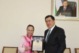 Meeting with the Chair of the British-Uzbek Society
