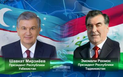 Лидеры Узбекистана и Таджикистана обсудили актуальную двустороннюю и региональную повестку
