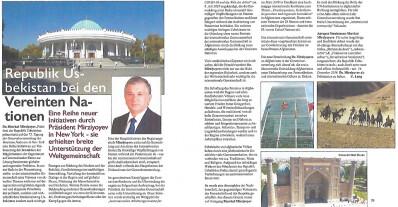 Взгляд из Германии: Инициативы Президента Узбекистана нашли широкую поддержку международного сообщества