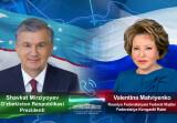 Президент Узбекистана провел телефонный разговор с Валентиной Матвиенко