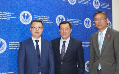 Meeting with the delegation of the Shanghai University of International Studies