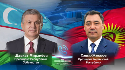 The President of Uzbekistan holds a phone call with the President of Kyrgyzstan