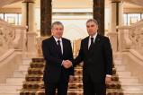 Uzbekistan, Turkmenistan Presidents meet in Ashgabat