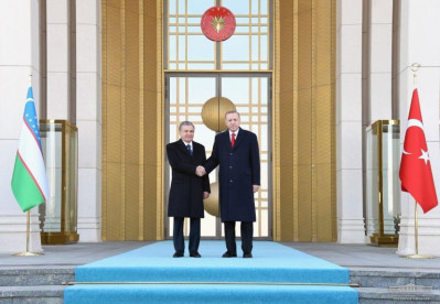 Ankara hosts ceremony of welcoming the President of Uzbekistan