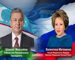 Telephone talk with Valentina Matvienko