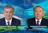 Президент Узбекистана поздравил Первого Президента Казахстана