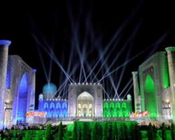 Oriental melodies fill ancient city in Uzbekistan
