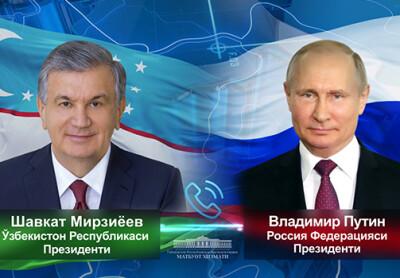 Россия Президенти Ўзбекистон етакчисини сайловдаги ғалабаси билан табриклади