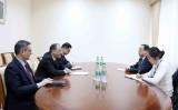 Meeting with a Korean diplomat