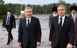 Uzbekistan, Turkmenistan Presidents visit the Turkmenbashi Ruhy Complex