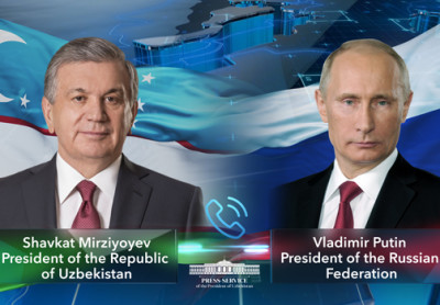 Presidents of Uzbekistan and Russia talk over the phone