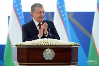President Shavkat Mirziyoyev attends the Youth and Students Forum