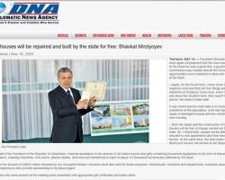 Пакистанские СМИ рассказали о предоставлении Президентом Узбекистана материальной помощи пострадавшим от наводнения сырдарьинцам