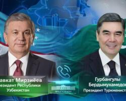 O'zbekiston va Turkmaniston Prezidentlarining telefon orqali muloqoti bo'lib o'tdi