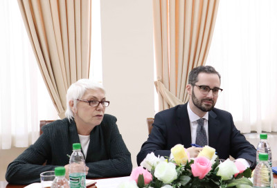 Meeting with the head of the Friedrich Ebert Foundation