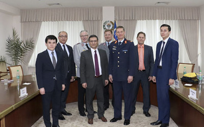A meeting with the German military delegation