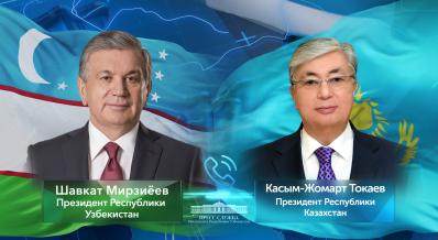 Shavkat Mirziyoyev, Kassym-Jomart Tokayev talk over the phone
