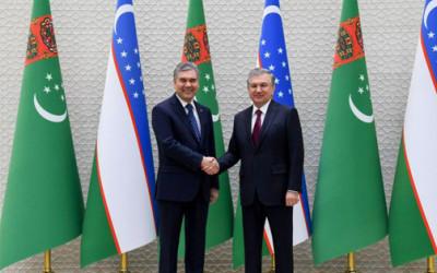 Состоялась встреча Президентов Узбекистана и Туркменистана