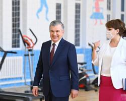 Президент ознакомился с условиями в доме Мехрибонлик