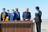 Президент ознакомился с ходом строительных работ в международном аэропорту Самарканда