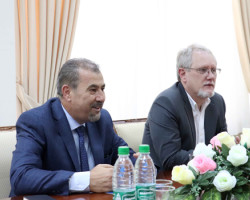 Meeting with American experts
