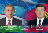 Shavkat Mirziyoyev and Sooronbai Zheenbekov talk on the phone