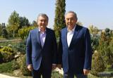 Состоялась рабочая встреча Президента Республики Узбекистан и Первого Президента Республики Казахстан