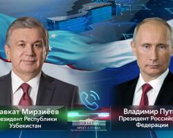 Cостоялся телефонный разговор Президента Узбекистана с Президентом России